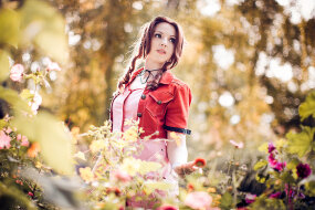 final fantasy vii character cosplay aerith gainsborough