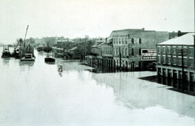 In 1927, the Mississippi River overflowed, flooding many cities along its coast.