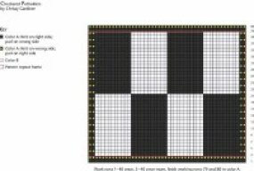 View Enlarged Image                              The diagram for our checkered pot holders.
