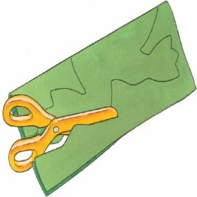 Trace the frog pattern and cut it out with scissors.