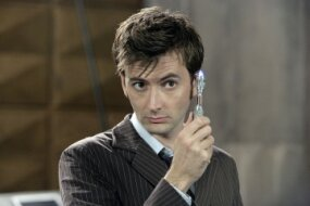 "David Tennant, The Doctor on ""Doctor Who,"" with a sonic screwdriver: pure geek chic"