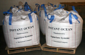 To salinate the water for the marine exhibits, the Aquarium used 1.5 million pounds of Instant Ocean® sea salt. Keeping the water salinated requires very little additional salt.