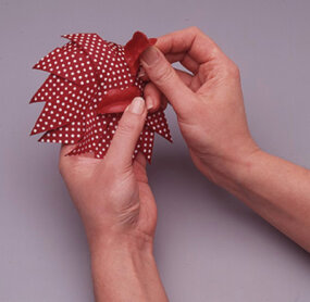 Glue the lips to the pinwheel.