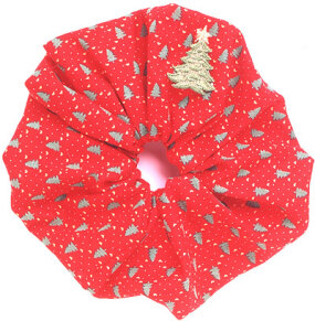 This scrunchie is an excellent holiday accessory.