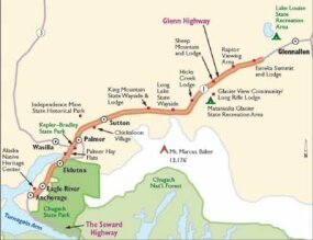 View Enlarged Image Follow this map of Glenn Highway if you're up for adventure.