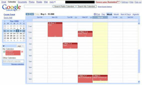 ­A Google Calendar with appointments