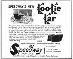 The Grabowski T spurred many imitations, like this ad selling parts so hot rodders could build their own.
