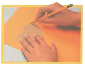 Trace your pattern onto the card.