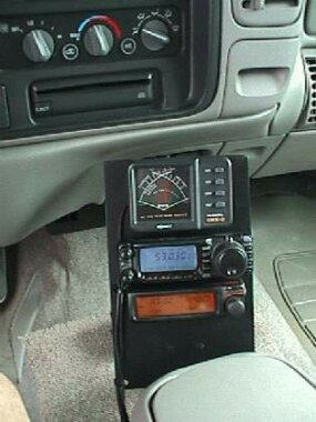 Ham radio station in automobile
