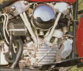 1936-1947 Knucklehead Harley-Davidson Engine