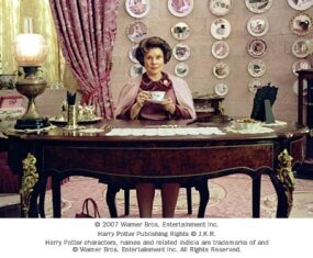 "Imelda Staunton as Dolores Umbridge in Warner Bros. Pictures' fantasy ""Harry Potter and the Order of the Phoenix."""