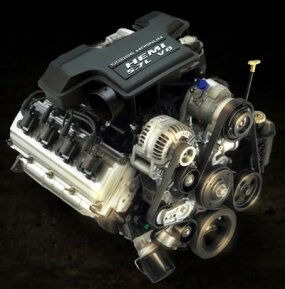 5.7-liter HEMI Magnum V-8 engine