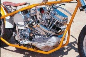 "A look at the ""Panhead"" engine."