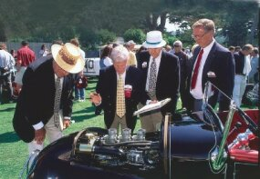 Ray Brock, Ken Gross, Alex Xydias, and Dan Montgomery were the judges at the 1997 Pebble Beach Concours d'Elegance.
