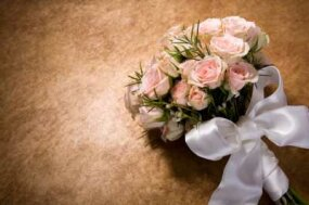 A bow adds a lovely touch to bouquets and nosegays.