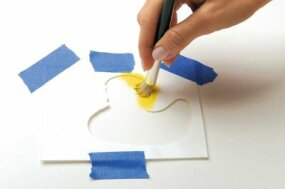 To swirl paint, let the brush rest on the surface, and swirl it around in a circular motion.