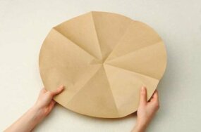 Make a paper template of the tabletop.