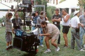 An IMAX camera and crew at a movie shoot