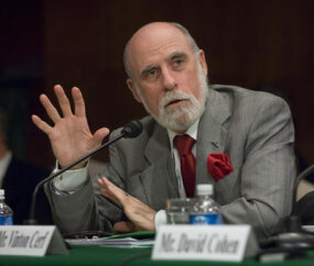 "Vinton G. Cerf, vice president & chief Internet evangelist at Google, Inc., during the Senate Judiciary hearing on ""Reconsidering Our Communications Laws: Ensuring Competition and Innovation."""