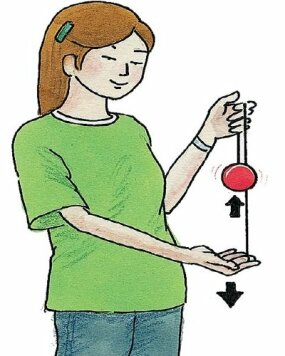 Pull gently downward with your yo-yo hand.