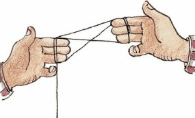 Use your free hand to grab the string a third time.