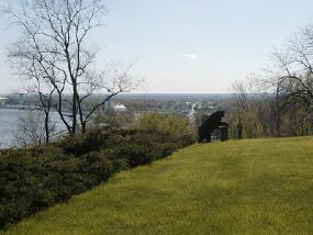 © View from bluff overlooking Lansing, Iowa and the Iowa Great River Road.