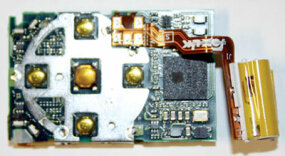 The iPod Shuffle's PCB front.