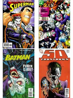 "Most recently, the Joker has declared himself emperor (Superman #161), released an army of Joker-Venom-fueled super-villains (""Joker: Last Laugh"" #2), nearly been beaten to death by Batman (Batman #614), and played mind games with Superman's pal, Jimmy Olsen (Countdown #50)."