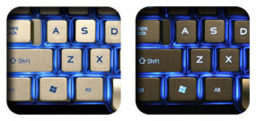 Saitek Truview backlit keyboard buttons