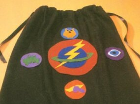 Power symbol patches are the finishing touch to your superhero cape.