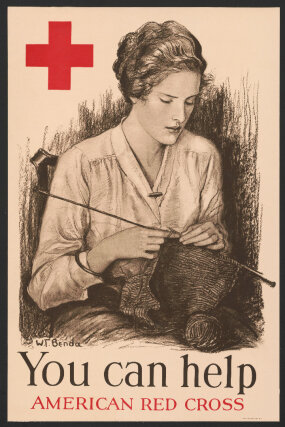 1918 Red Cross poster knitting