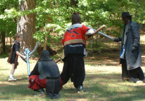 Some LARPs allow children to participate. Those that do often require signed permission slips and waivers from parents.