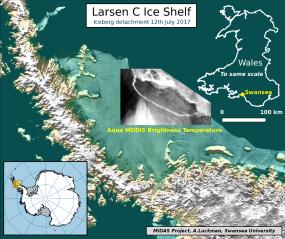 antarctica, larsen c, map