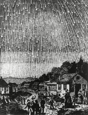 illustration of 1833 leonid meteor shower