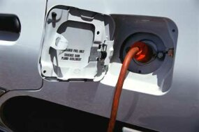 You can recharge some Lithium-ion batteries by plugging the car into a power outlet.