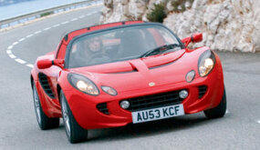 The Elise is designed for high-performance handling.