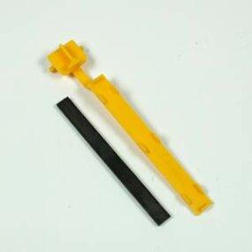 Bar magnet and plastic slider