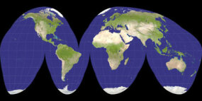 A Goode projection of the Earth