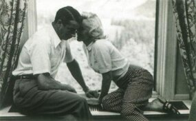 Joe DiMaggio's courtship of Marilyn fascinated the world. Here, the couple shares a quiet moment in Banff, Canada, in 1953.