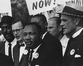 Martin Luther King, Jr. during the Civil Rights March On Washington, D.C.