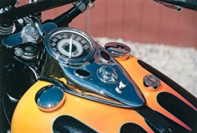 Harley's classic tank-mounted instrument panel originated in the 1930s. The basic design is still used today, but many feel the old ones were more stylish.