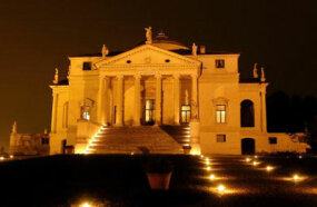 Villa Rotunda in Vicenza, Italy is one of Palladio's country houses, designed and built for Paolo Almerica in 1556.