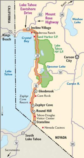 View Enlarged Image This map details Lake Tahoe-Eastshore Drive