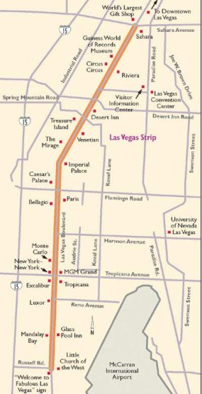 View Enlarged Image This map details the Las Vegas Strip.