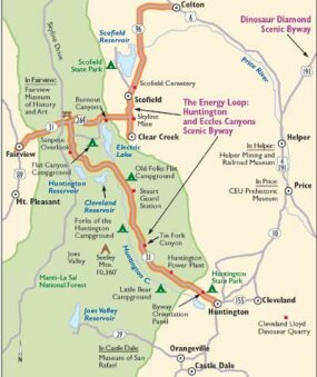 View Enlarged Image This map will guide you along Huntington/Eccles Canyon Scenic Byway.