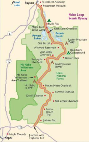 View Enlarged Image This map will help guide you along Nebo Loop Scenic Byway.