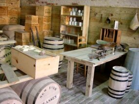 A recreation of Civil War era food scales, at Fort Macon State Park
