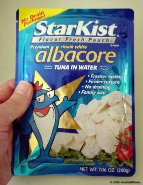 Starkist's tuna retort pouch
