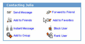 "If Ellie wants to become friends with Julia, she'll click ""Add to Friends"" on Julia's profile page."