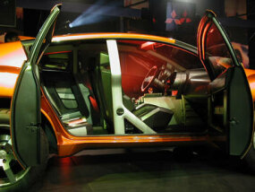 Inside Mitsubishi's RPM 7000 concept vehicle.
